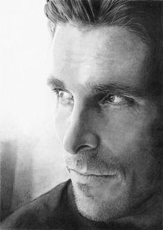 Christian Bale [pencil drawing] by *Ileina on deviantART | #Art #ChristianBale #CelebrityArt