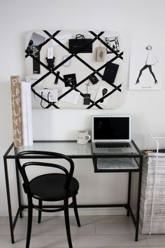 Homevialaura | home office | working space | TON Chair | Gauhar notice board | Garance Dore