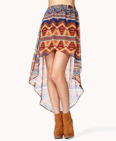 #Forever21                #Skirt                    #Print #High-Low #Skirt #FOREVER #2037808329        Geo Print High-Low Skirt | FOREVER 21 - 2037808329                            http://www.seapai.com/product.aspx?PID=11787