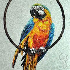"""Одна из моих любимых работ """"Попугай""""; 160 х 80 см.; стеклянная мозаика; 2014 г. Фрагмент. #мозаика #стекляннаямозаика #фавока #творчество #природа #животные #птицы #попугай #цвет #красота #паноизмозаики #красиво #нравится #следуйзамной #подпишись #mosaic #favoka #glassmosaic #color #creativity #nature #birds #parrot #beautiful #amazing #my #cool #instacool #winter #картинаизмозаики"""