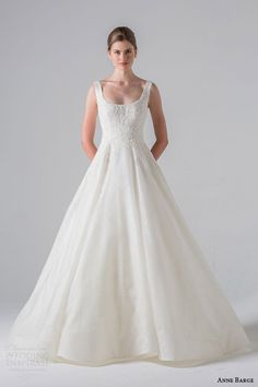 anne barge couture bridal spring 2016 monceau sleeveless scoop neck wedding dress silk organza over chantilly appliqued alencon lace