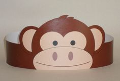 Create your own Monkey Crown! Print, cut & glue your monkey crown together & adjust to fit anyones head!    • A .pdf file available for instant