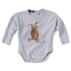 Valentina Grower - Teddy on Grey - Clothing - Unisex - Baby Belle Unisex Gifts, Dressing, Boys, Clothes, Collection, Grey, Style, Fashion, Young Boys