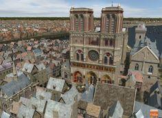 EN IMAGES - Les places parisiennes et les quais de Seine ont bien changé en quelques centaines d'années. Des images de synthèse révèlent à quoi ressemblait la capitale au Moyen-Âge. Dépaysement garanti.