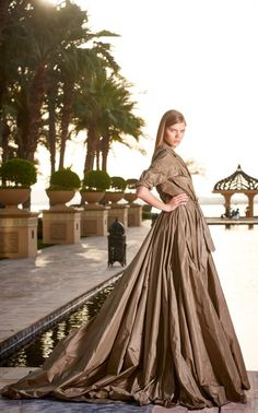 The showstopping RL Collection Sahara gown shown at the Royal Mirage Hotel in Dubai