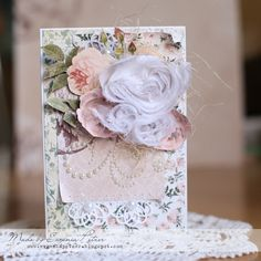 'Wedding in pink' Card by Evgenia Petzer using BoBunny Rose Cafe - Wendy Schultz ~ Cards Pink Cards, Creative Cards, Beautiful Roses, Scrapbooking Layouts, Wedding Cards, Special Occasion, Decorative Boxes, Max 2015, Gift Wrapping