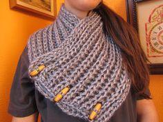 El rincón de mis labores: Cuello de lana con dos agujas