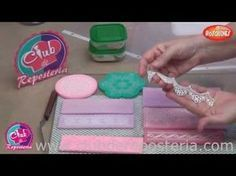 Cómo hacer encaje comestible paso a paso | Decoración de Tartas de Fondant por Azúcar con Amor - YouTube