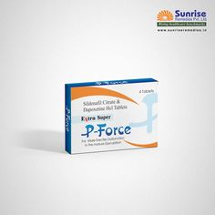 Extra Super P-Force helps to treat Erectile Dysfunction in men. Extra Super P Force Sildenafil & Dapoxetine Manufactured by Sunrise Remedies. Sildenafil 100mg, Pills, Stretches, Health Care, Sunrise, Remedies, Medical, Shit Happens, Men