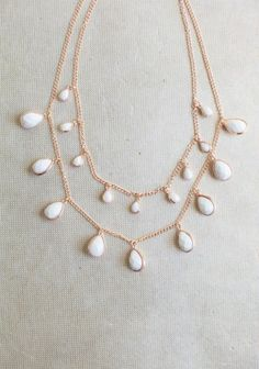 White Statement Necklace from Ruche. http://www.homesweetharbor.blogspot.com