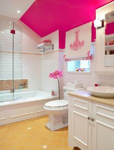 decoracao de banheiro-rosa-moderno