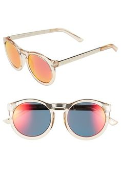 Le+Specs+'Cheshire'+49mm+Round+Retro+Sunglasses+available+at+#Nordstrom