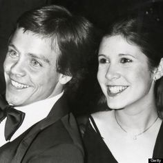Mark Hamil and Carrie Fisher