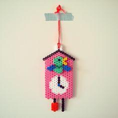 Cuckoo clock hama perler beads by tamatek