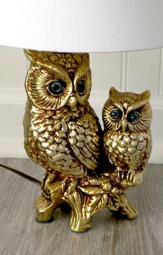 Two Owls Lamp by KristinaKaty on Etsy Owl Room Decor, Owl Always Love You, Beautiful Owl, Owl Crafts, Vintage Owl, Owl Jewelry, Owl Art, Woodland Creatures, Beautiful Creatures