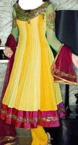 Mehndi Wear Dresses for Girls
