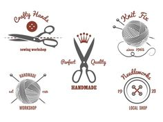 Handmade logos by Microvector on Creative Market