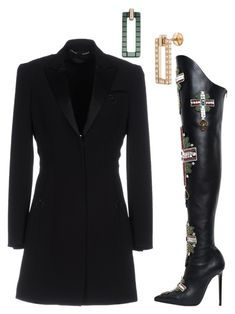 """""""Untitled #2426"""" by cheechchonghigh ❤ liked on Polyvore featuring Versace and Chopard"""