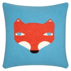 Buy @Donna Wilson Fox Cushion, Blue Online at @John Lewis @HomeArtyHome Home Arty Home