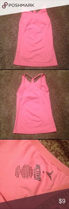 Old Navy Active Pink Tank Top, Built in Bra, Med Old Navy Active Tank Top with built in bra. Size Medium. Bright pink in color. 92% nylon & 8% spandex blend. Old Navy Tops Tank Tops