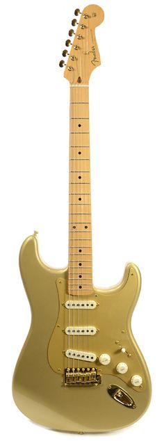 FENDER 50th Anniversary Limited Edition Stratocaster Gold 2004 | Chicago Music Exchange
