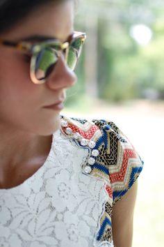 Shoulder Details. Lace.  www.livfashionably.me