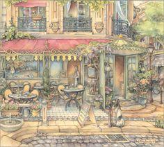 kim jacobs artist | Kim Jacobs - Sidewalk Cafe