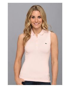 e92c585e51d0fa Lacoste - Pink Sleeveless Stretch Pique Polo - Lyst Lacoste Pink