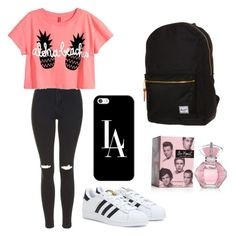 """""""Untitled #32"""" by ariela609 ❤ liked on Polyvore featuring Topshop, adidas, Casetify and Herschel Supply Co."""