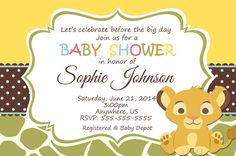 lion king baby shower invitation wording