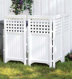 Use ready made panels to hide garbage cans, pool equipment, etc.