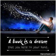 """A book is a dream that you hold in your hand.""  - Neil Gaiman  .  .  .  #harrymoon #wandpaperscissors #bookquote #bookquotes #quoteoftheday #booklover #bookaddict #reading #book #booksforkids #booksfortoddlers #library #booklovers #bibliophile #bookstagram #booknerd #ilovereading #instabook #instaread #kidsbooks #bookish #ilovebooks #bookworm #bookaholic"