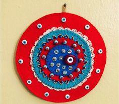 Nazarlık, keçe, amulet, felt, feltro, handmade, design