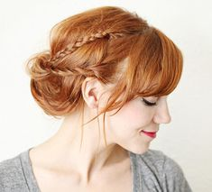 15 Killer Braided Hairstyles to Try for Coachella: Braided Updo #braids #braidedhairstyles #hairstyles