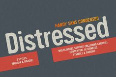 Handy Sans Condensed Distressed by MyCreativeLand on Creative Market