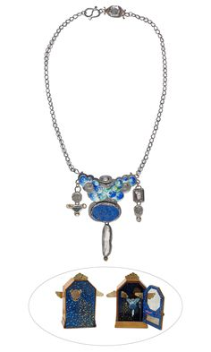 """""""Dreamdance in Blue"""" by Designer Linda Kaye-Moses Fire Mountain Gems and Beads' Contest 2016 featuring Metal -  Finalist  #beadingcontest #jewelrydesign #beading #metalsmith #diyjewelry #jewelrymakingcontest"""