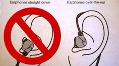 This is actually the proper way to wear earbuds.
