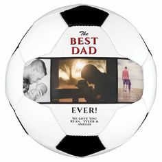 Best Dad Ever 3 Photo Collage Father`s Day Soccer Ball - tap/click to get yours right now! #SoccerBall #photo, #father, #fathers #day, #create 3 Photo Collage, Old Fashioned Games, Family Fun Night, Permanent Marker, New Dads, Dad Birthday, Love Messages, Best Dad, Soccer Ball