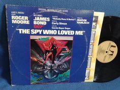 "Vintage  James Bond ""The Spy Who Loved Me"" Marvin Hamlisch Original Soundtrack Score Vinyl LP Record Album Carly Simon Roger Moore 007"