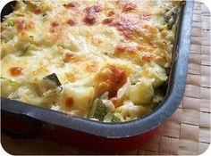gratin risoni et courgettes au Bourdin Veggie Recipes, Vegetarian Recipes, Healthy Recipes, Food In French, Salty Foods, My Best Recipe, Mozzarella, Savoury Dishes, No Cook Meals
