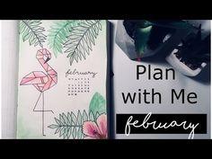 (2) FEBRUARY 2018 Bullet Journal Setup & January FLIPTHROUGH // PLAN WITH ME - YouTube