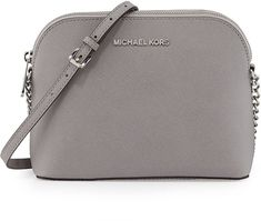 MICHAEL Michael Kors Jet Set Small Travel Dome Crossbody Bag, Pearl Gray on shopstyle.com