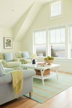 Coastal boat house loft - love this light filled space!