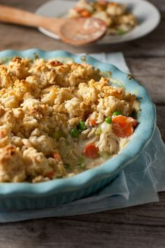 Chicken Pot Pie Crumble - I'd probably do my own filling, but I love the idea of the crumbly biscuit topping!