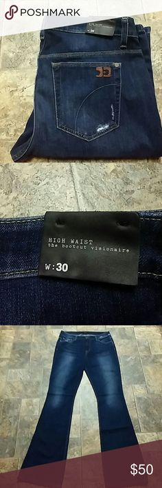 "Joe's Jeans High Waist ""Visionaire"" size 30 NWOT Joe's Jeans High Waist ""Visionaire"" Boot Cut, distressed pockets, size 30, inseam 33-1/2"". NWOT. First picture is a stock photo for reference. Anthropologie Jeans Boot Cut"