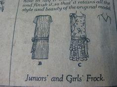 Vtg 1920s Butterick Flapper Dress Pattern 1762 | eBay