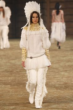 Needs to stop!!!!!!!  Chanel Shows Controversial Native American Headdresses for Pre-Fall