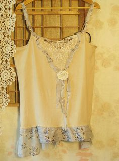 Summer evening hazePlus size tea dyed lace top SALE by MollaMaia, €22.00