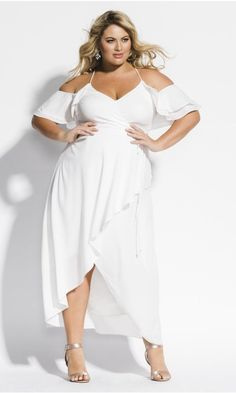 ff82e0666b98 Shop Women s Plus Size Miss Jessica Maxi Dress - Ivory - Clothing