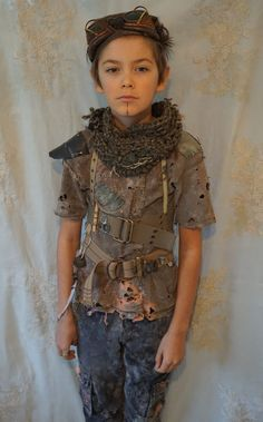 *post apocalypse kid, created by jada dreaming on etsy*... children costume halloween city of ember wasteland weekend road warrior mad max apocalyptic